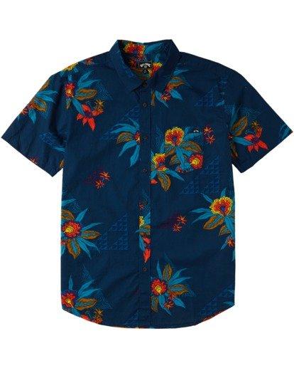 4 Sundays Floral Short Sleeve Shirt Blue M5043BSF Billabong