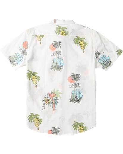 5 Sundays Floral Short Sleeve Shirt White M5043BSF Billabong