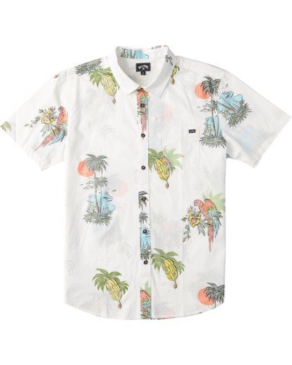 4 Sundays Floral Short Sleeve Shirt White M5043BSF Billabong