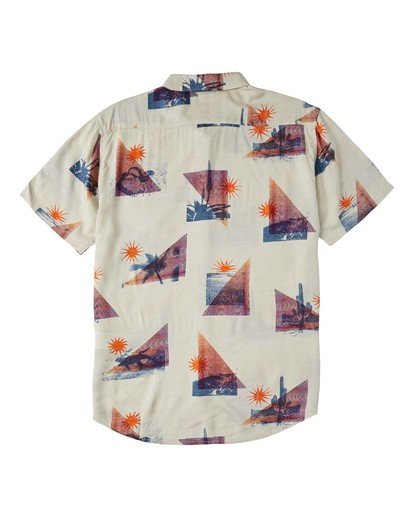 5 Sundays Floral Short Sleeve Shirt Beige M5043BSF Billabong