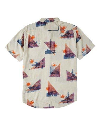5 Sundays Floral Short Sleeve Shirt Beige M5043BSF Billabong