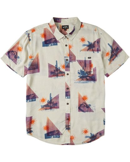 4 Sundays Floral Short Sleeve Shirt Beige M5043BSF Billabong