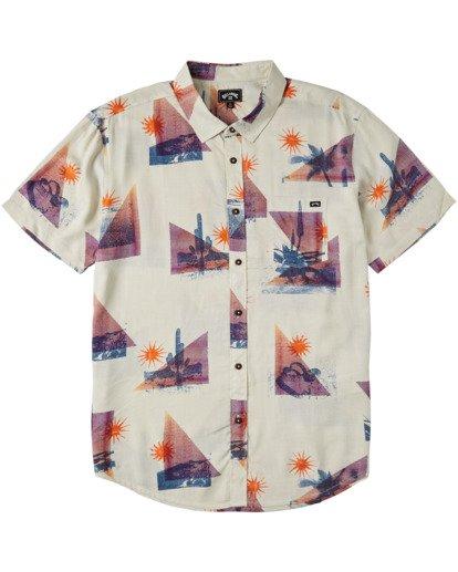 4 Sundays Floral Short Sleeve Shirt Beige M5043BSF Billabong