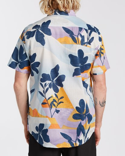 2 Sundays Floral Short Sleeve Shirt Blue M5043BSF Billabong