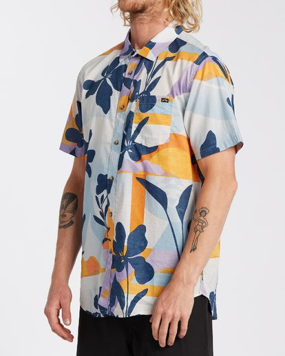 1 Sundays Floral Short Sleeve Shirt Blue M5043BSF Billabong