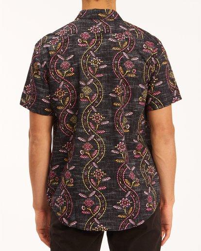 2 Sundays Floral Short Sleeve Shirt Black M5043BSF Billabong