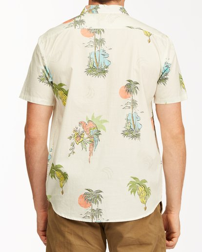 2 Sundays Floral Short Sleeve Shirt White M5043BSF Billabong