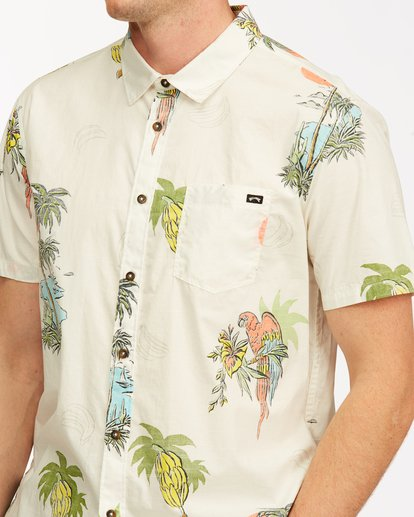 3 Sundays Floral Short Sleeve Shirt White M5043BSF Billabong