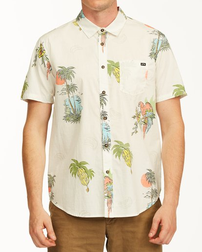0 Sundays Floral Short Sleeve Shirt White M5043BSF Billabong