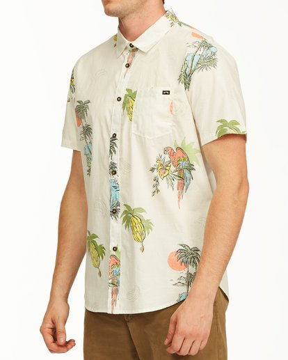 1 Sundays Floral Short Sleeve Shirt White M5043BSF Billabong