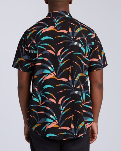 3 Sundays Floral Short Sleeve Shirt Black M5043BSF Billabong