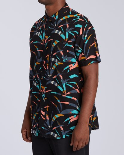 1 Sundays Floral Short Sleeve Shirt Black M5043BSF Billabong