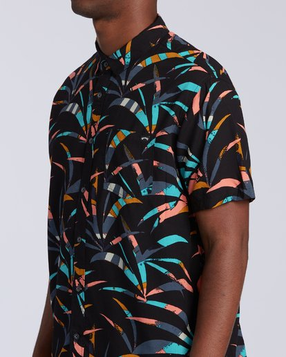 2 Sundays Floral Short Sleeve Shirt Black M5043BSF Billabong