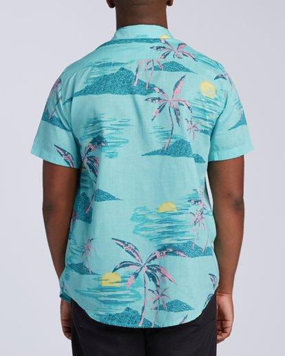 3 Sundays Floral Short Sleeve Shirt Green M5043BSF Billabong