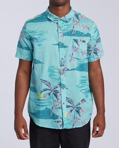 0 Sundays Floral Short Sleeve Shirt Green M5043BSF Billabong