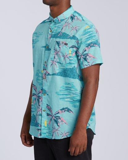 1 Sundays Floral Short Sleeve Shirt Green M5043BSF Billabong