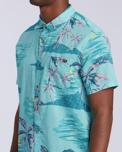 2 Sundays Floral Short Sleeve Shirt Green M5043BSF Billabong