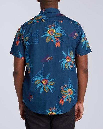 3 Sundays Floral Short Sleeve Shirt Blue M5043BSF Billabong