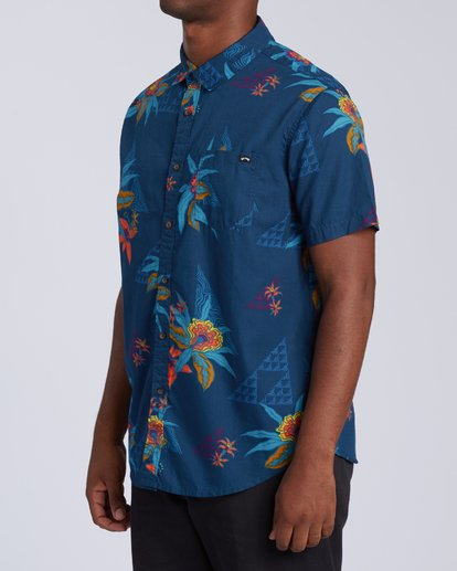 1 Sundays Floral Short Sleeve Shirt Blue M5043BSF Billabong