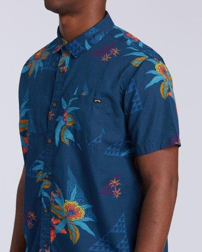2 Sundays Floral Short Sleeve Shirt Blue M5043BSF Billabong