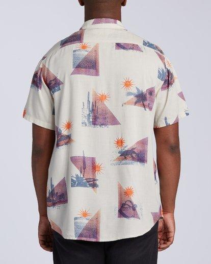 3 Sundays Floral Short Sleeve Shirt Beige M5043BSF Billabong