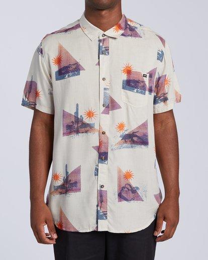 0 Sundays Floral Short Sleeve Shirt Beige M5043BSF Billabong