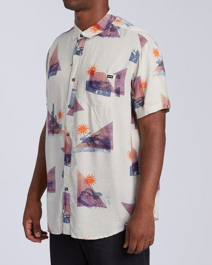 1 Sundays Floral Short Sleeve Shirt Beige M5043BSF Billabong