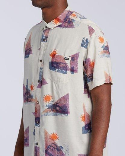 2 Sundays Floral Short Sleeve Shirt Beige M5043BSF Billabong