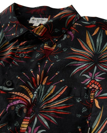 1 Sundays Floral Short Sleeve Shirt Black M504VBSF Billabong