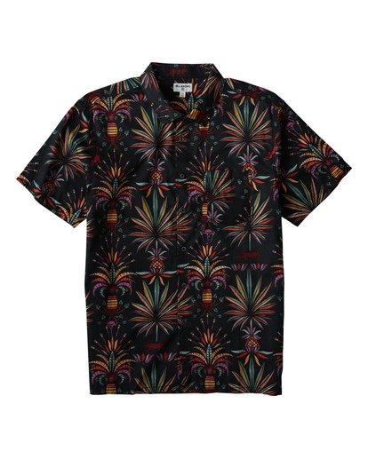 0 Sundays Floral Short Sleeve Shirt Black M504VBSF Billabong
