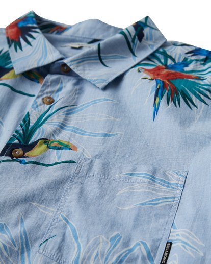 1 Sundays Floral Short Sleeve Shirt Blue M504VBSF Billabong