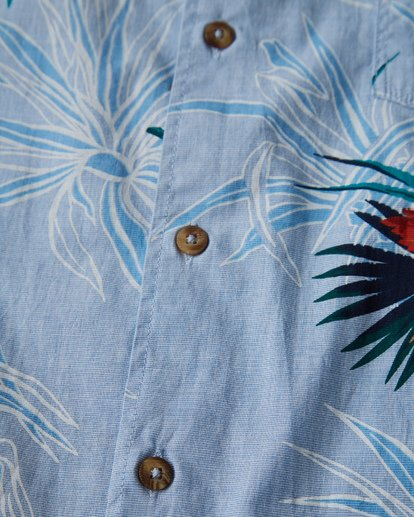 2 Sundays Floral Short Sleeve Shirt Blue M504VBSF Billabong