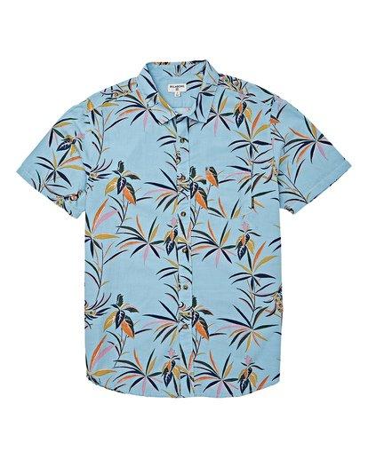 4 Sundays Floral Short Sleeve Shirt Blue M504VBSF Billabong