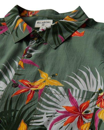 1 Sundays Floral Short Sleeve Shirt Green M504VBSF Billabong