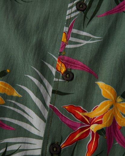 2 Sundays Floral Short Sleeve Shirt Green M504VBSF Billabong