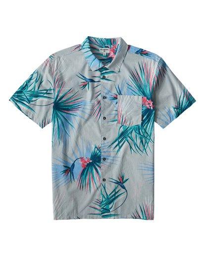 0 Sunday's Floral Short Sleeve Shirt Beige M504VBSF Billabong