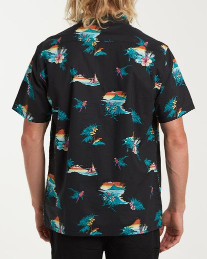 2 Sundays Floral Short Sleeve Shirt Black M504VBSF Billabong
