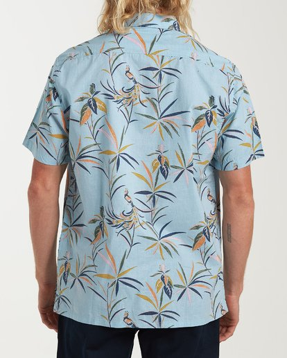 2 Sundays Floral Short Sleeve Shirt Blue M504VBSF Billabong