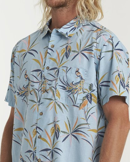3 Sundays Floral Short Sleeve Shirt Blue M504VBSF Billabong