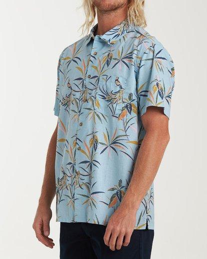 1 Sundays Floral Short Sleeve Shirt Blue M504VBSF Billabong