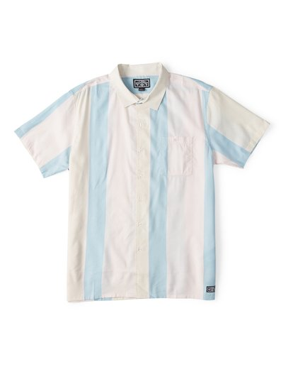 3 Hux Short Sleeve Shirt Pink M504WBXE Billabong