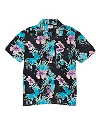 3 Vacay Print Short Sleeve Shirt Black M505VBVP Billabong