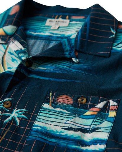 1 Vacay Print Short Sleeve Shirt Blue M505VBVP Billabong