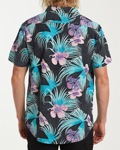 2 Vacay Print Short Sleeve Shirt Black M505VBVP Billabong