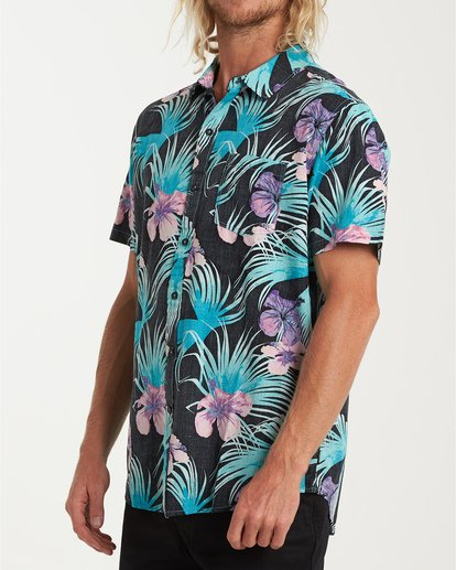 1 Vacay Print Short Sleeve Shirt Black M505VBVP Billabong