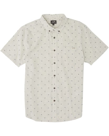 4 All Day Jacquard Short Sleeve Shirt Red M5073BSJ Billabong