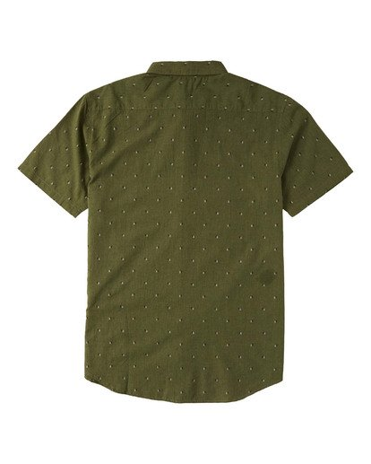 4 All Day Jacquard Short Sleeve Shirt Green M5073BSJ Billabong
