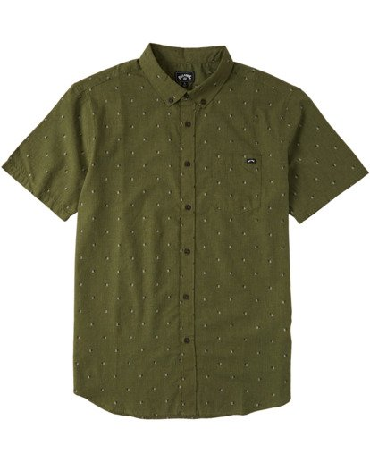 3 All Day Jacquard Short Sleeve Shirt Green M5073BSJ Billabong