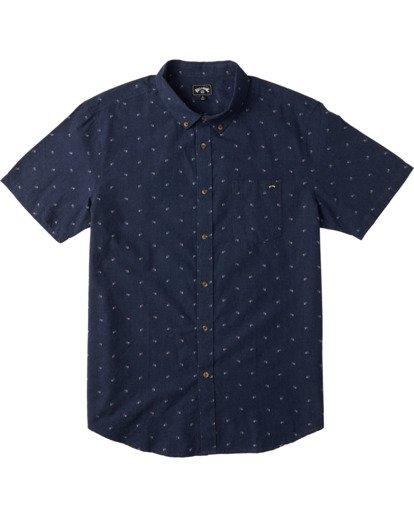 4 All Day Jacquard Short Sleeve Shirt Blue M5073BSJ Billabong