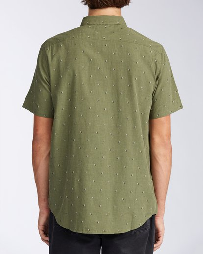 2 All Day Jacquard Short Sleeve Shirt Green M5073BSJ Billabong